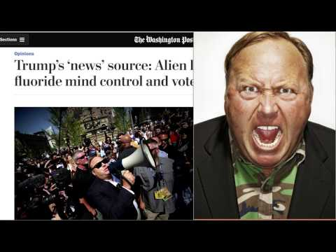 Trump's 'news' source: Alien lizards, fluoride mind control & voter fraud