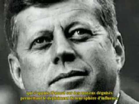 John Kennedy JFK 1963  ! Speech – 10 days before – Secret societies