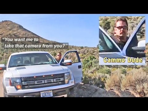 Security Encounter Near Area 51 – Cammo Dude Threatens to Seize My Camera