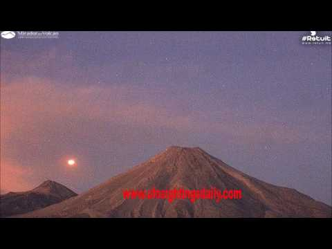 UFO Over Colima Volcano Makes Hard Right Turn, UFO Sightings Daily