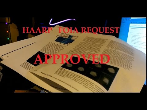 1/23/2015 — HAARP FOIA request HONORED! Office of Naval Research sends pack