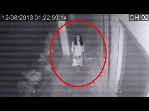 Paranormal Activity Detected On Tape!! Girl Ghost Caught On CCTV Camera!!