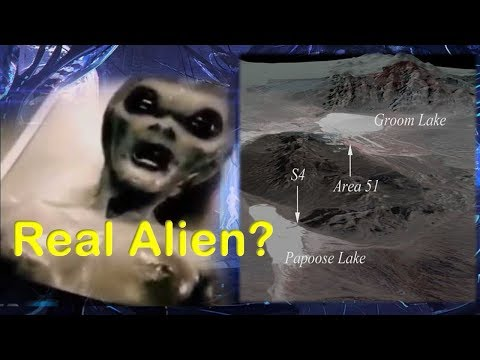 Incredible video shows alien captured alive at area 51 S4 base