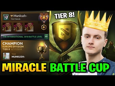 Miracle Battle Cup King with MindControl Tier 8 Europe Dota 2 7.17