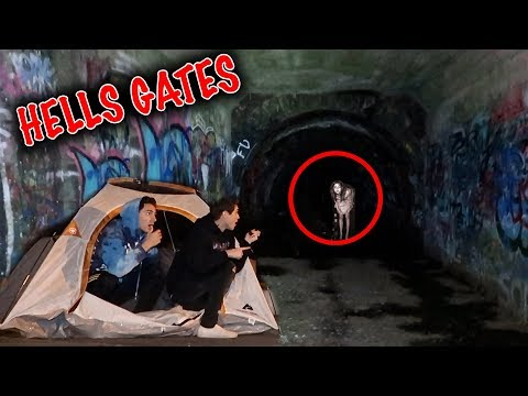CAMPING OVERNIGHT AT HELLS GATES TUNNEL!! *EXTREME PARANORMAL*