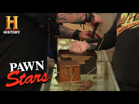 Pawn Stars: Chumlee Tests Out a Secret Society Branding Machine (Season 16) | History