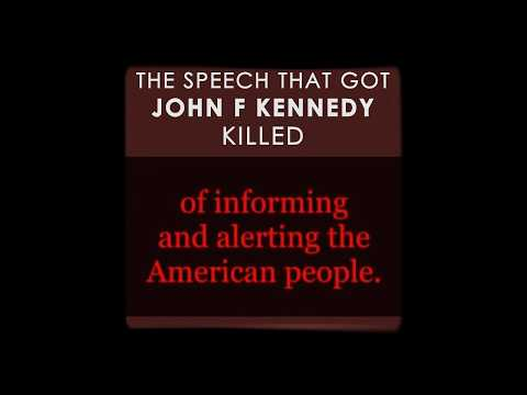 JFK (1961) Speech on Secret Societies & Conspiracies!