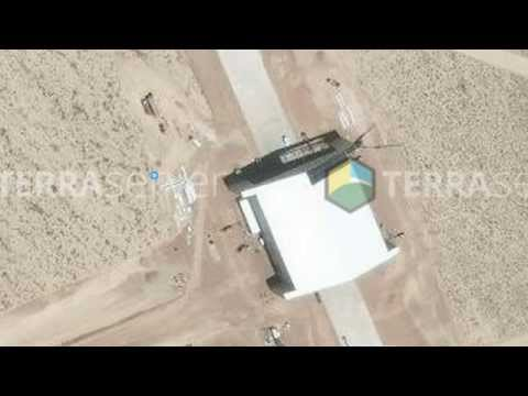 AREA 51: SATELLITE PROOF OF MASSIVE NEW HANGAR BUILT BY THE RUNWAY