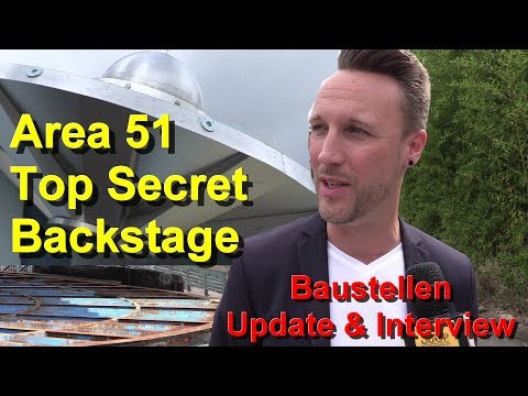 Movie Park Area 51: Top Secret [Neuheit 2019] Backstage Bericht & Baustellen Update Bermuda Dreieck