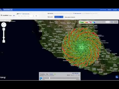 HUGE SPIRAL OVER MEXICO!!! HAARP?