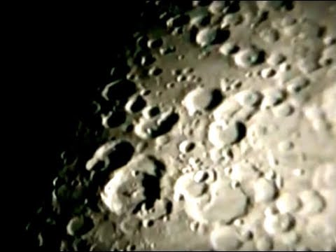 AMAZING FOOTAGE OF A UFO LEAVING A CRATER ON THE MOON!!!