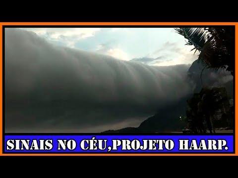 Nuvens escuras no dia de esuridão e o projeto HAARP.
