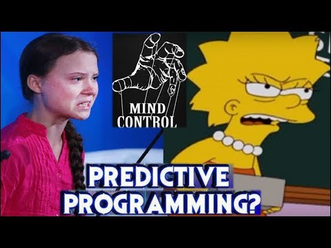 Greta Thunberg & The Simpsons PREDICTIVE PROGRAMMING MIND CONTROL, U.N. Speech, Stares Down Trump