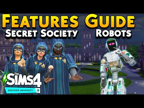 Discover University Features Guide: Robotics, Secret Society and More | Sims 4 Expansions