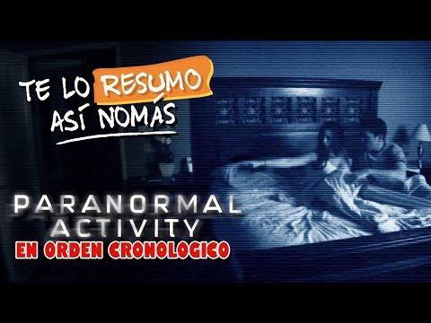 Actividad Paranormal, Orden Cronologico   Te Lo Resumo
