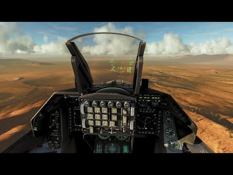 Windy Landing at AREA 51 in an F-16C | DCS World 4K 60fps