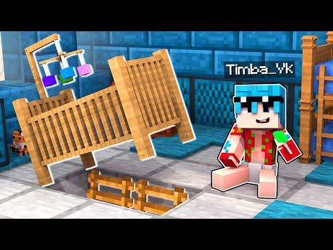 Minecraft: LA BASE SECRETA de BEBE TIMBA 😱 El mejor ESCONDITE en MINECRAFT