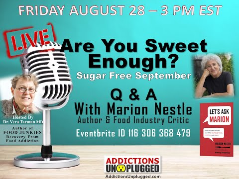Q and A with Dr Marion Nestle, Sugar Free September 2020